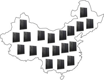 Kína tele napelemmel